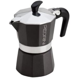 Pedrini 9118 Coffee Maker, 1 Cup - Black Silver