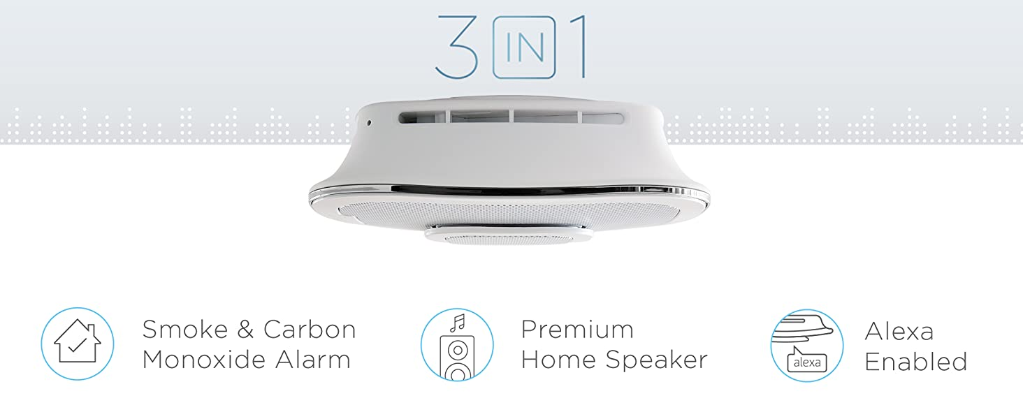 First Alert Onelink Safe and Sound Smart Smoke Carbon Monoxide Alarm with Speaker & Alexa