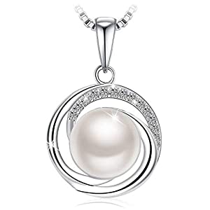 Swarovski Elements 925 Sterling Silver Pearl Pendant