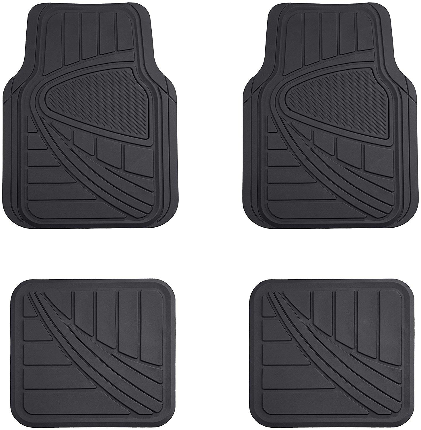 amazonbasics 4 piece car floor mat black automotive. Black Bedroom Furniture Sets. Home Design Ideas