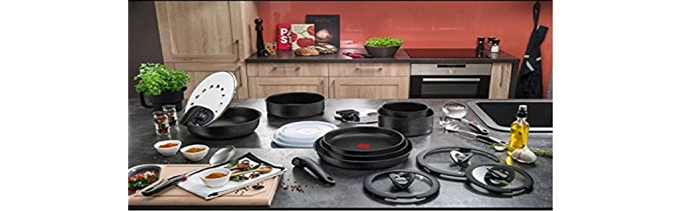 Tefal L6599303 Set de po/êles et casseroles Tous feux dont induction Ingenio 5 Performance Rouge 10 Pi/èces