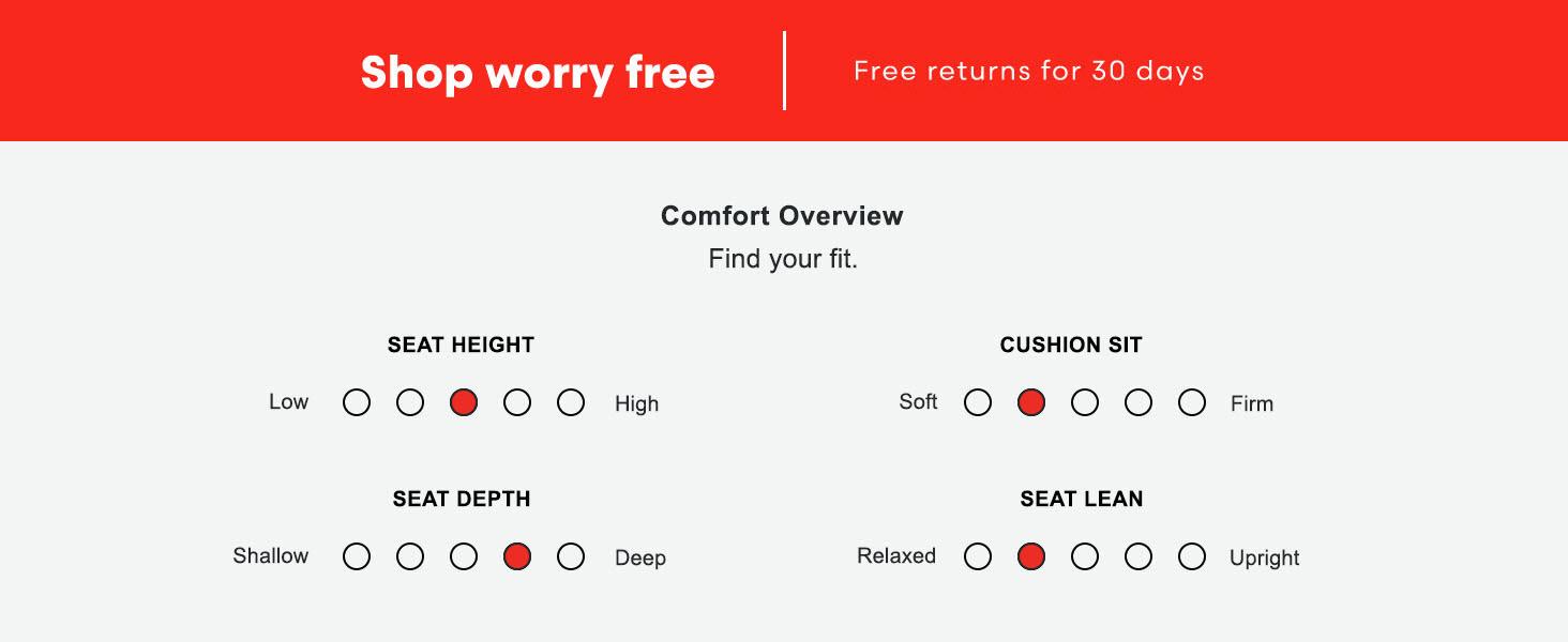 Deep seat medium soft cushion sofa loveseat couch chair