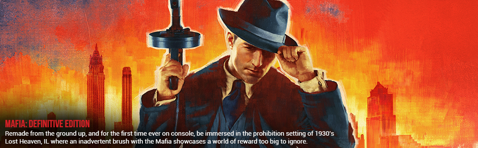 mob looking man in a fedora holding and old machine gun