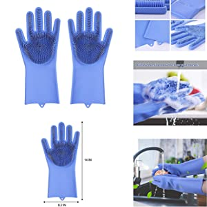 gloves, gloves with scrubber