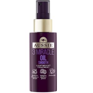 Aussie 3 Miracle Oil Reconstructor con Aceite de Nuez de Macadamia Australiana, Aceite de Semilla de Jojoba Australiana y de Aguacate, 100 ml