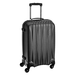 243dae6849a0 Polycarbonate 550 mm Gun Metal Soft Sided Cabin Luggage by American  Tourister - Have a Happy Journey!
