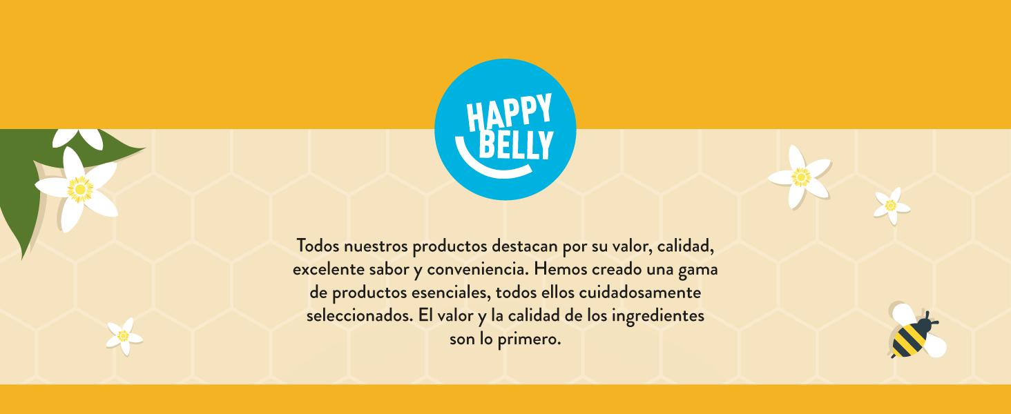 Marca Amazon - Happy Belly Miel de azahar 340gr x 4: Amazon.es ...