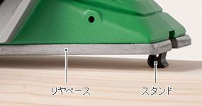 刃物と部材の接触を防ぐスタンド付き