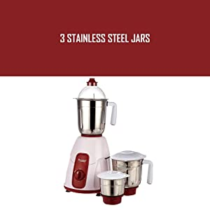 c6731f63a1e Buy Prestige Elegant 750 Watt Mixer Grinder with 3 Stainless Steel ...