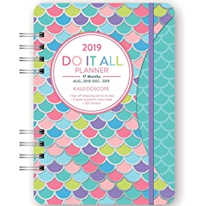 Orange Circle Studio 2019 Do It All Planner, August 2018 - December 2019, Kaleidoscope