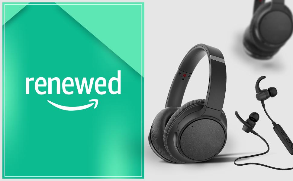 renewed, renewed headphones, headphones, refurbished, refurbished headphones