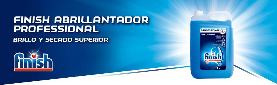 Finish Lavavajillas Abrillantador Professional - 5 L: Amazon.es ...