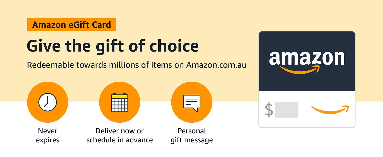 Amazon eGift card - Redeemable towards millions of product