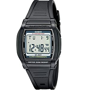 Casio Men's W201 1AV Chronograph Water Resistant Watch
