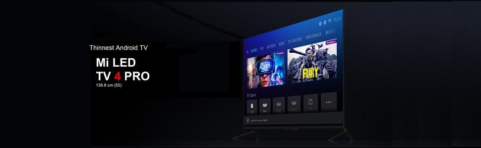 Mi LED TV 4 PRO 138 88 cm (55) Ultra HD Android TV (Black)