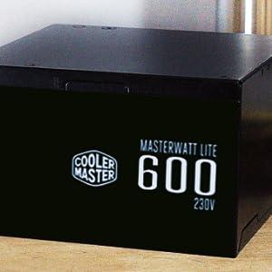 Cooler Master MasterWatt Lite 600-Watt Non-Modular Power Supply