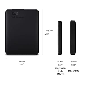 WD 2 TB Elements Portatile, Hard Disk Esterno, USB 3.0