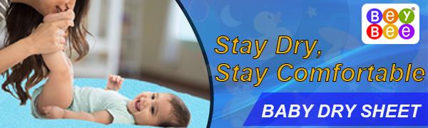 BeyBee Premium Quick Dry Bed Protector Baby Cot Sheet Medium Size (Plum)