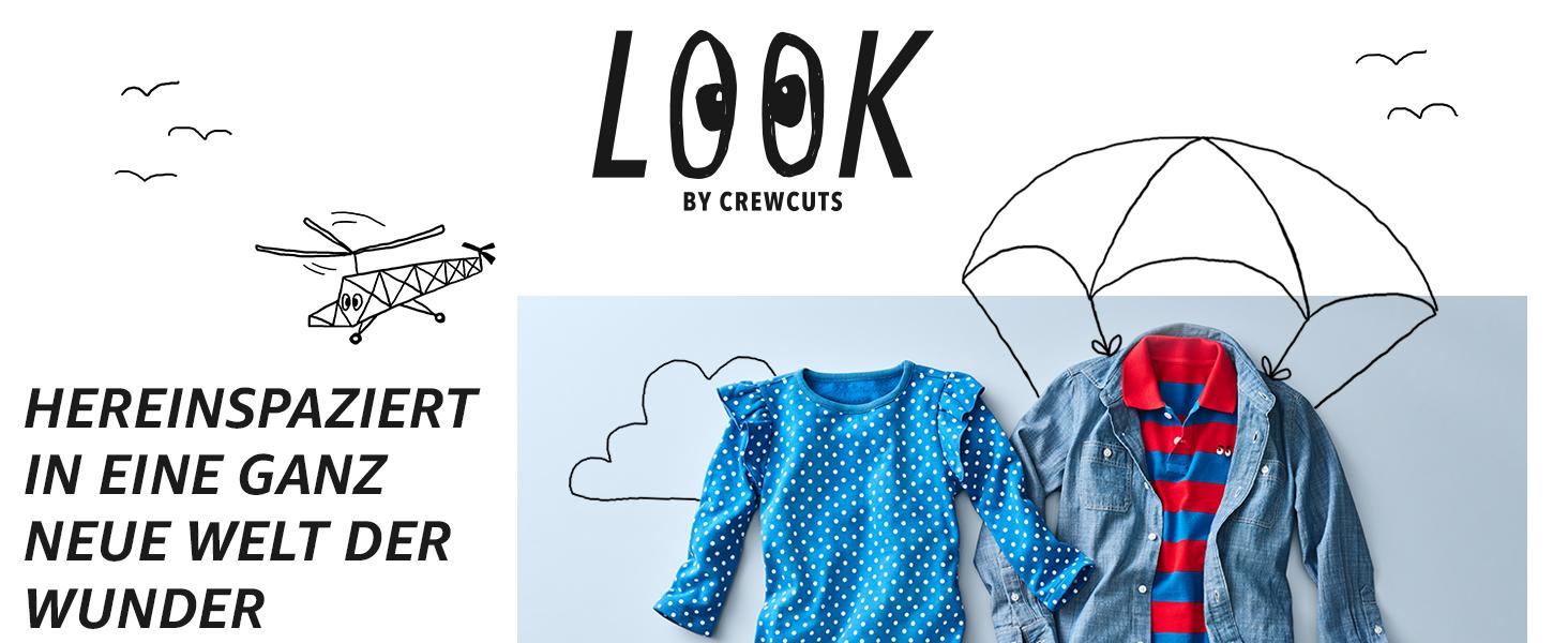 LOOK by crewcuts Gro/ße M/ädchen 2er-Pack Leggings