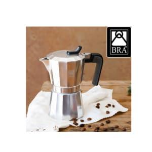 BRA Cafetera, Acero, Plata, 3 Tazas