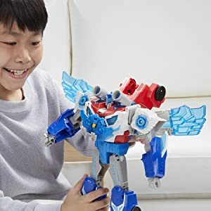 Experience 4 Exciting Modes of Play: Robot, Vehicle, Flight, and Power Surge Mode