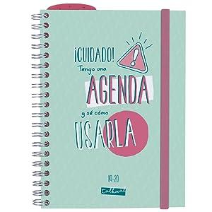 Finocam - Agenda 2019-2020 1 día página formato pequeño (120x169 mm) español Talkual Turquesa