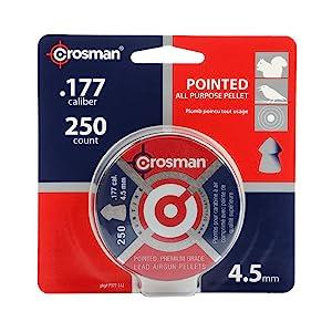 Crosman P177 Pointed Premium Grade Lead Hunt .177 Caliber Airgun Pellets 250 Ct for sale online