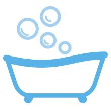 Boost bonding time with the physical contact your child needs with bath time from Cetaphil Baby