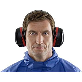 c4eebd0ea 3M Peltor Optime III Earmuffs with Headband, 35 dB, Black/Red – Protection  against high noise levels in industrial settings - 1x Peltor ear defender