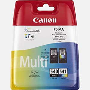 canon pg 540 cl 541 ink cartridge multi coloured pack of 2 office products. Black Bedroom Furniture Sets. Home Design Ideas