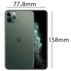 Apple iPhone 11 Pro Max with FaceTime Physical Dual SIM - 256 GB, 4G LTE, Midnight Green