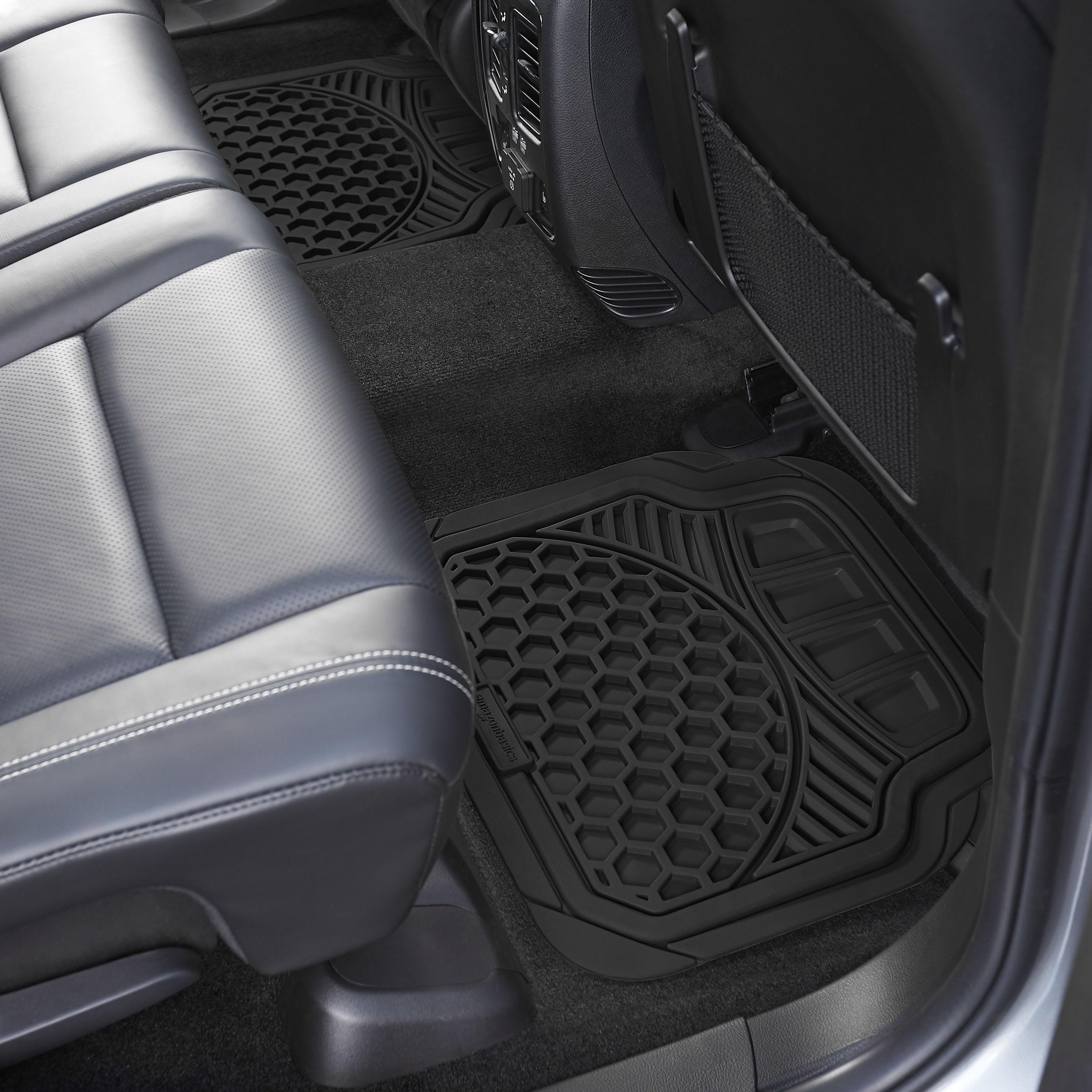 Amazon Com Amazonbasics 4 Piece Heavy Duty Car Floor Mat