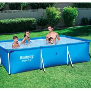 Bestway 56404 - Detachable Steel Pro Splash Frame rectangular pool with steel frame