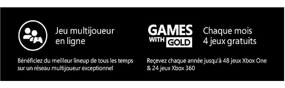 abonnement xbox live gold 12 mois xbox live code jeu. Black Bedroom Furniture Sets. Home Design Ideas
