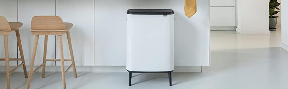 large recycling bin; brabantia touch bin; brabantia large bins; kitchen bins; brabantia XL bins