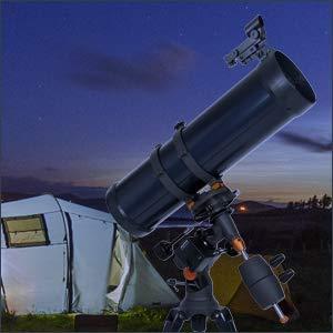Celestron AstroMaster 130EQ-MD, Telescopio con Motor para Seguimiento Automático, Azul