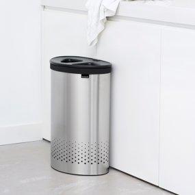 Brabantia - Cesto para Ropa, 55 l, Selector, Tapa de plástico Gris ...
