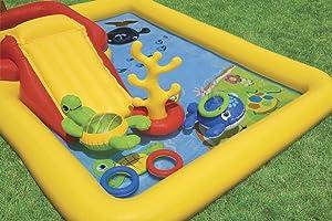 Intex 57454NP - Centro juegos hinchable tobogán 254 x 196 x 79 cm ...