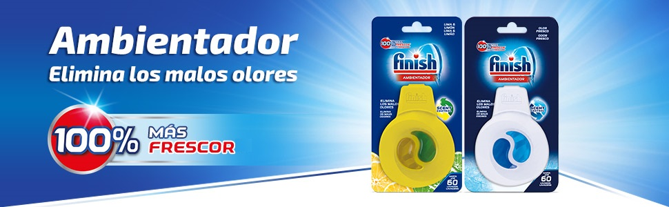 Finish Ambientador para Lavavajillas Regular, 60 Lavados: Amazon ...