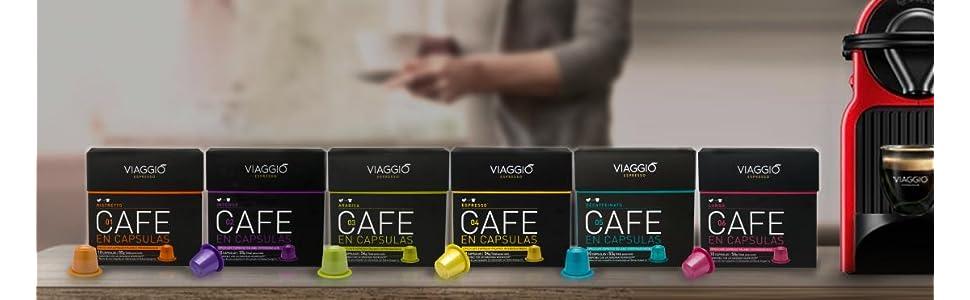 Viaggio Espresso. 120 Cápsulas de Café Compatibles con Máquinas Nespresso