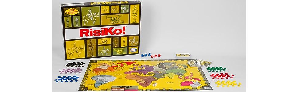 Editrice Giochi 6033849 Risiko Gioco da Tavolo con 6 Eserciti