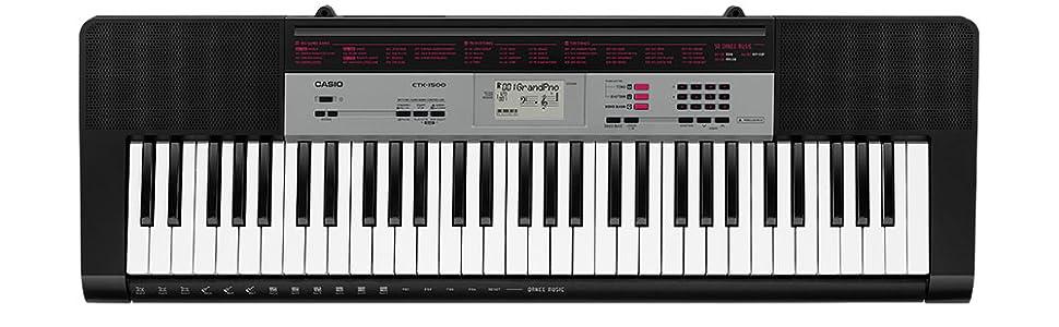 Casio CTK- 1500 - Keyboard, color Negro
