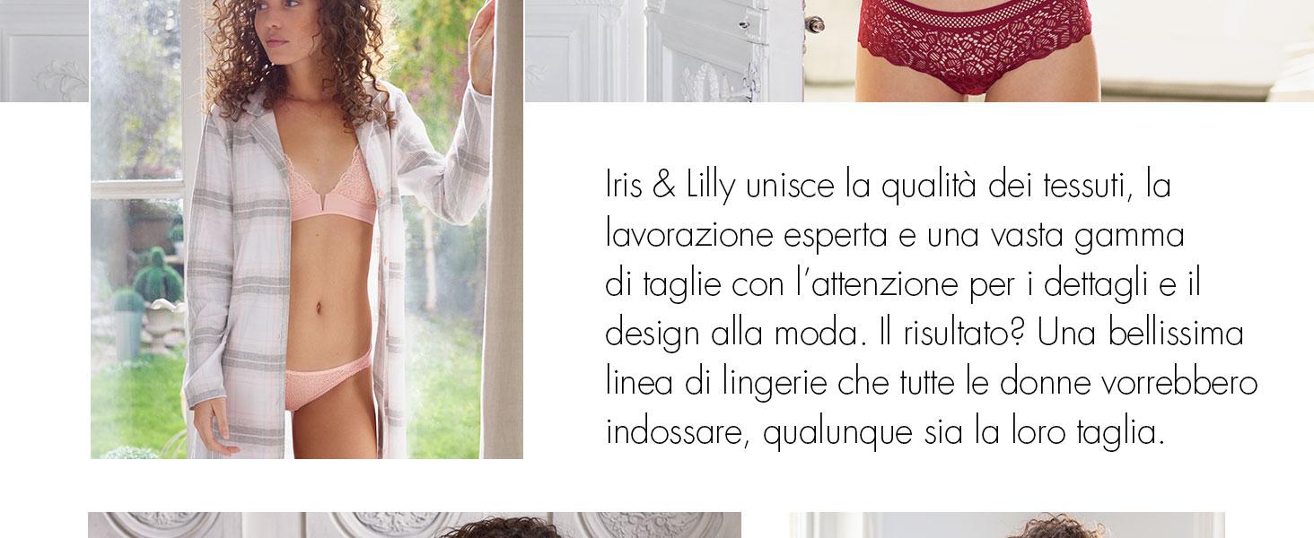 Nero Iris /& Lilly Canotta con Pizzo Donna Large Pacco da 2 Black