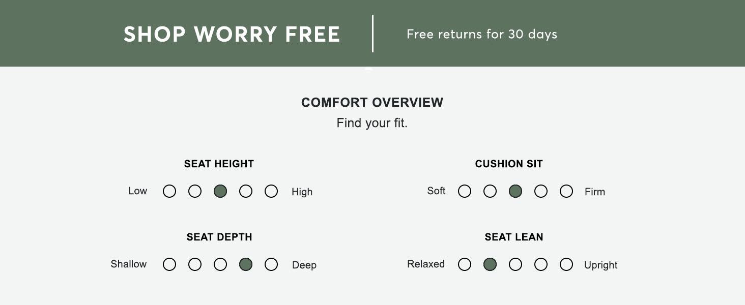 Medium firm deep seat sofa loveseat chair