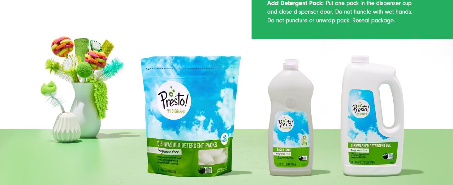 Amazon.com: Amazon Brand - Presto! 78% Biobased Dishwasher