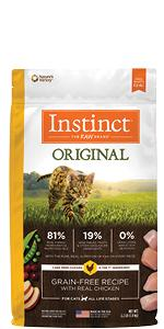 instinct original kibble, cat food, high protein cat food, healthy cat food, natures variety