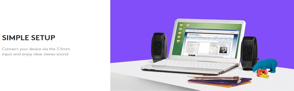 Amazon com: Logitech S120 2 0 Stereo Speakers: Electronics