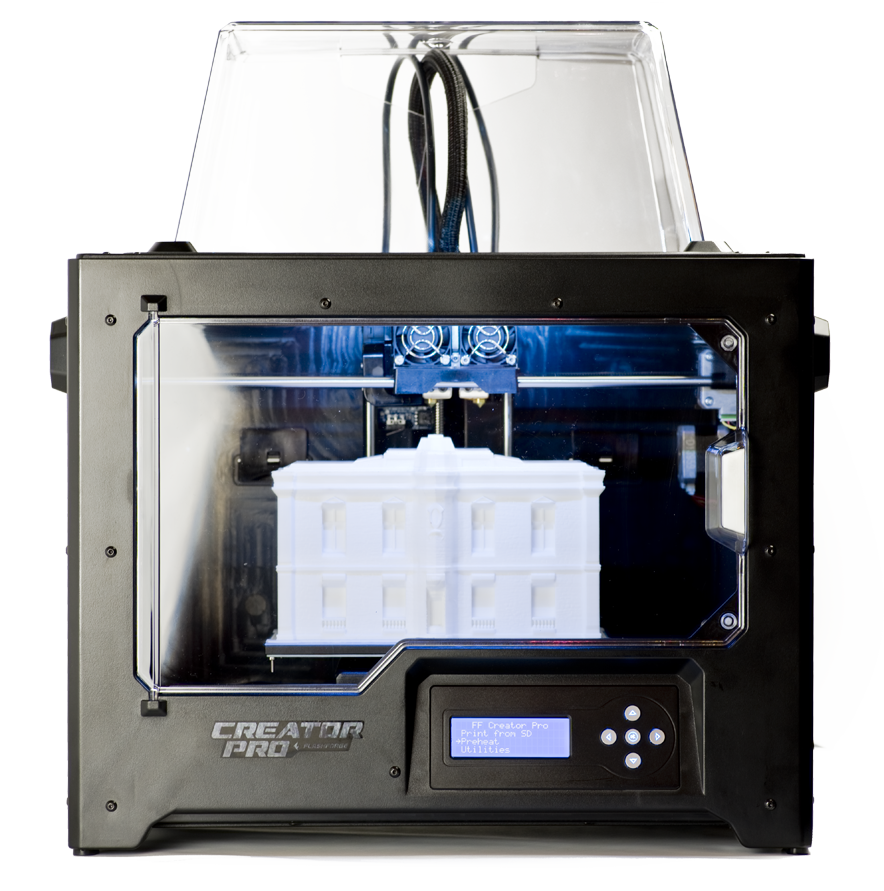 d945583b beaf 4a5d bb3f 5efc7a188160 flashforge 3d printer creator pro, metal frame structure, acrylic  at eliteediting.co