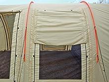 DOPPELGANGER(ドッペルギャンガー) アウトドア カマボコテント2 設営簡単 4~5人用 T5-489 日射しや雨を遮るハーフウィンドウ