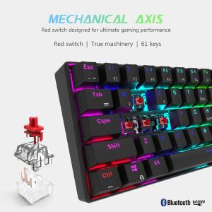 RK ROYAL KLUDGE RK61 wireless 60% Mechanical Gaming Keyboard RGB Backlit Ultra-Compact Keyboard
